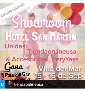Próximo showroom en Hotel San Martín, Viña del Mar.