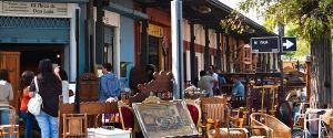 Avenida Italia, tienda de antigüedades en Providencia.