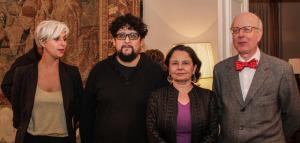 Constanza Arena, Alejandro Fernández, la Ministra Claudia Barattini y el embajador de España Carlos Robles.
