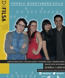Afiche oficial de los Booktubers para Filsa 2014