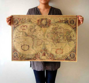 FreeShipping-Old-font-b-nautical-b-font-maps-1641-Vintage-Style-Retro-Paper-font-b-Poster