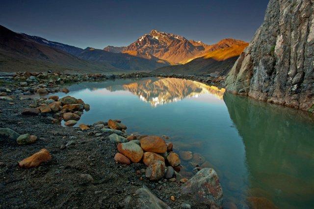 Termas del PLomo al amanecer (foto: http://imaginasantiago.com/)