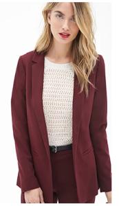 Un elegante blazer para todo tipo de ocasión. For Ever 21.