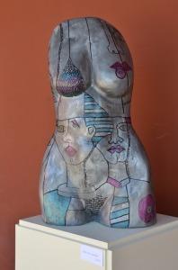 Escultura expuesta en el Centro Cultural de La Reina.