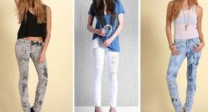 Tres tipos de Jeans para mujeres delgadas.