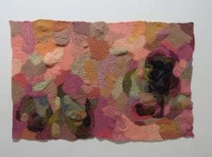 Neoplasia, 2012  frazada de lana tejida a crochet . 170x 190 CM by MTB.