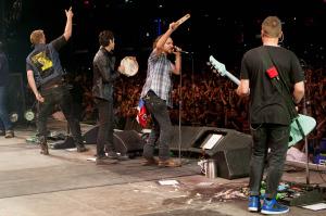 Foto de su concierto en Chile.